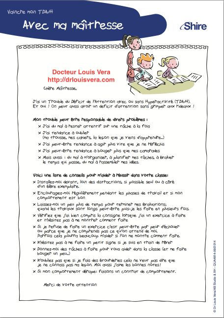 Informations enseignant TDA/H