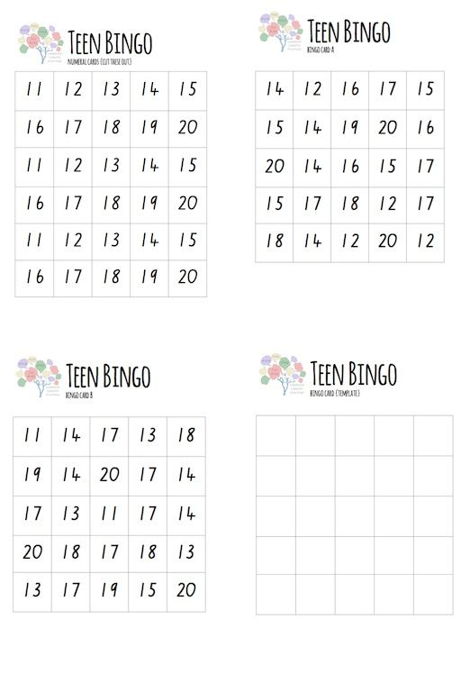 Math Games Teen Bingo Free Printable Lessons Learnt Journal