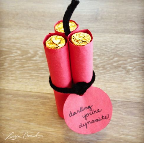 What you will need…  3 packs of Rolos  1 sheet of red construction paper  2 black pipe cleaners  scotch tape