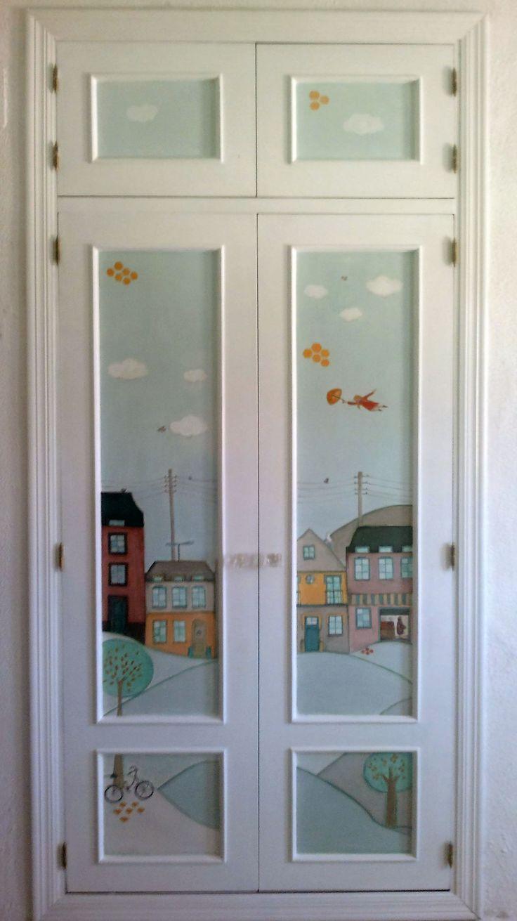 Decorar puertas de armarios ideas para pintar y decorar - Decorar armario empotrado ...