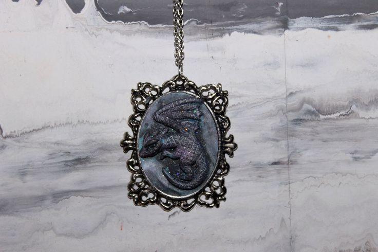 Drago collana in polimer clay,hand made,gioielli fantasia di RosaCreation72 su Etsy