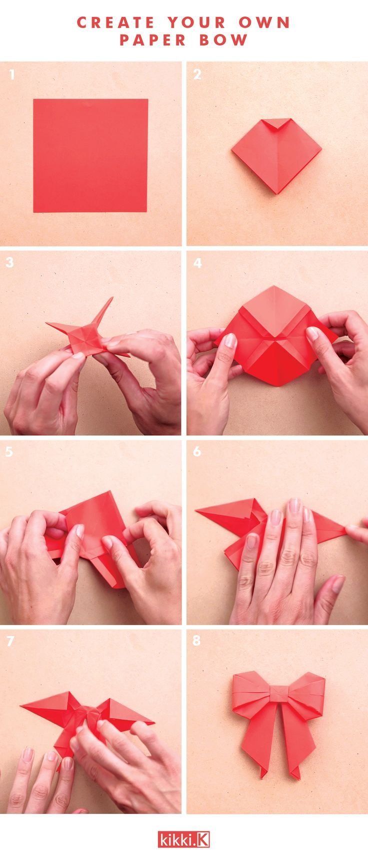 Decorate your gifts with this gorgeous DIY origami paper bow.