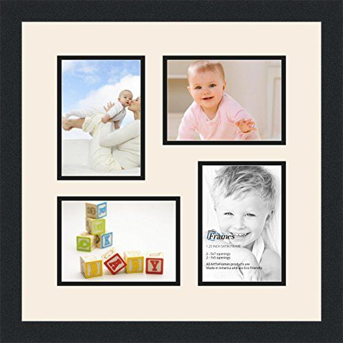 Arttoframes Collage Photo Frame Double Mat With 4 5x7 Openings And
