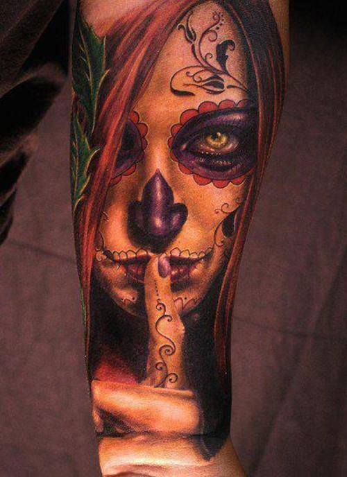 sugar skull  #tattoo #ink #body art