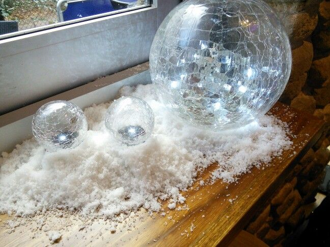 Snow balls to go with our winter wonderland snow dome booth yay!
