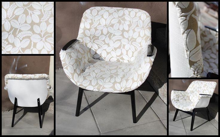 Salo Designissa nyt esillä lisää uudelleen verhoiltuja upeita vintage-tuoleja. Verhoomo Hedvigin Heta loihti uuden upean ilmeen näihin tuoleihin Designers Guildin verhoilukankailla. Tuoleista löytyi jopa sarjanumeroinnit.