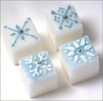 Decorated Sugar Cubes - Snowflakes-18ct