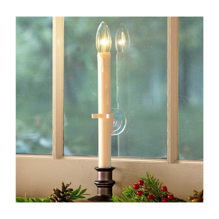 Suction Cup Window Flameless Candle With Auto Timer Window Candles Flameless Candle Candle Types