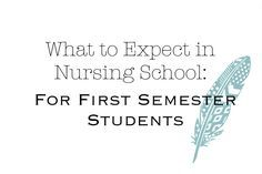 What to Expect With Nursing School: A Full Breakdown of Nursing School For First Semester Students — dlmjourney
