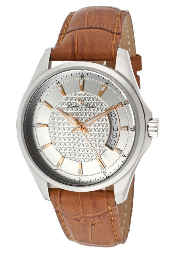 Lucien Piccard Excalibur with a silver dial and brown leather strap will make it through anything your day has to offer.