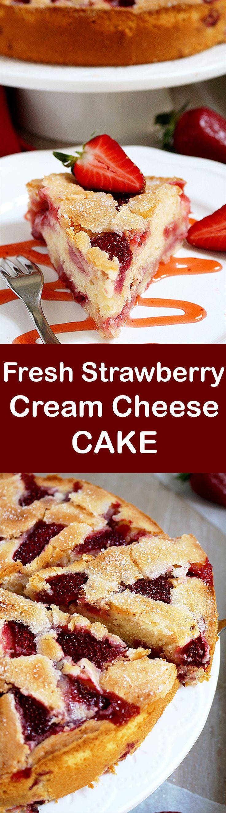 Fresh Strawberry Cream Cheese Cake