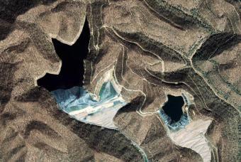 Водохранилища в угольных карьерах Западной Вирджинии, 18 марта 2006 года…