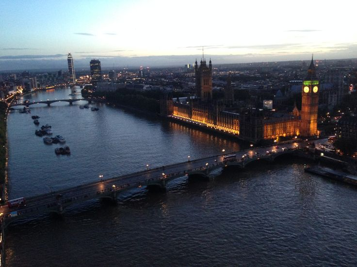London Eye's View to Westminster Abbey