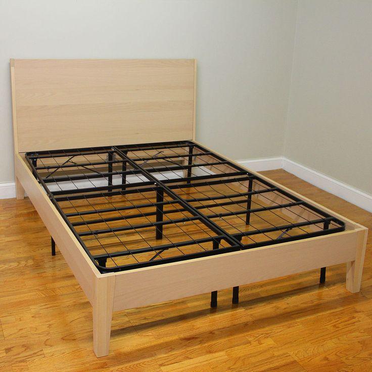 Metal Bed Frame Heavy-DutyMattress Foundation 4 Inch Queen Size,Black #bedsprings