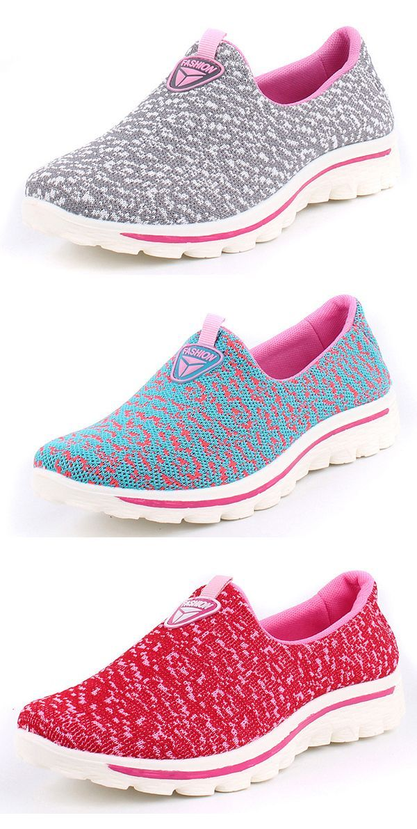 92ee37817a US$32.11 Breathable Mesh Slip On Casual Flat Shoes | Newchic Women's ...