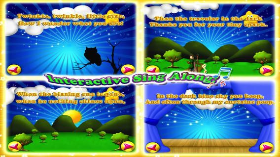 """A wonderful and new way to enjoy the classic """"Twinkle twinkle little star"""" song. An all in one collection of intuitive and educational games, including the a vivid interactive and high quality production of the beloved song. This application provides the perfect place to learn and play in an enjoyable and rich environment."""