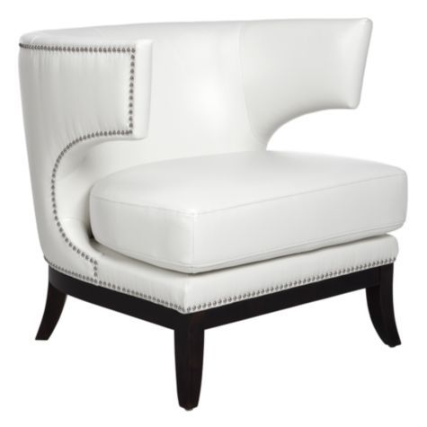 Enzo Accent Chair   White From Z Gallerie