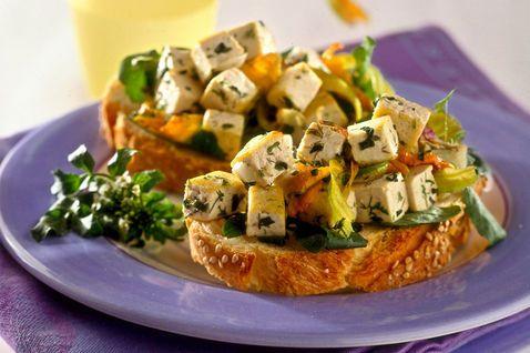 Bruschette al tofu e fiori di zucca - Donna Moderna