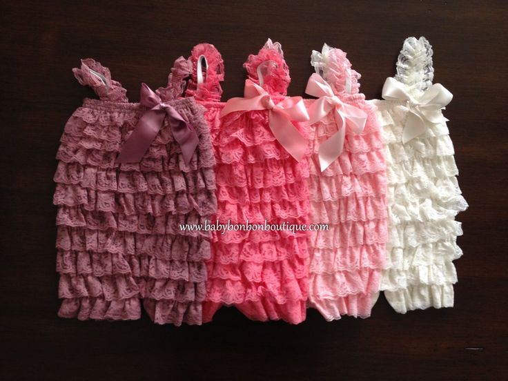 French Ivory Baby Lace Romper, Pink Lace Romper