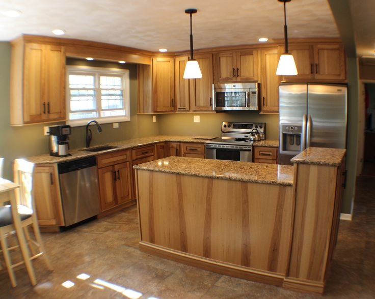A Flat Panel Door Style Showcases The Natural Wood Grain