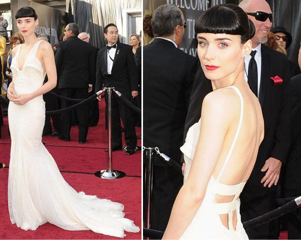 vestidos oscar 2012 rooney mara Vestidos do Oscar 2012   Fotos