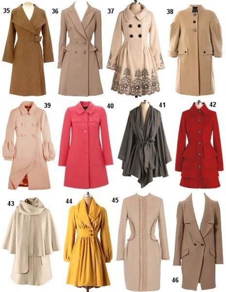 Самые красивые фасоны пальто