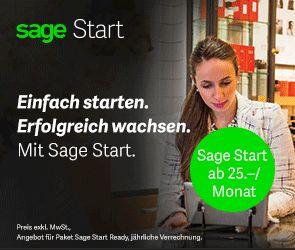 Starten Sie durch mit Sage Start Sage Start bietet alles was kleine bis mittlere Firmen brauchen, von der Auftragsabwicklung bis zur Lohnbuchhaltung, das schon ab CHF 25.-- pro Monat. Bereits mit der einfachen Sage Start Finanzbuchhaltung Lite sind Sie in der Lage komplette Jahresabschlüsse mit den gesetzlich vorgegebenen Auswertungen durchzuführen.   #bexio #blueoffice #BusinessSoftware #buspro #günstig #monat #myfactory #oppac #proffix #q3 #sage #selectline #start