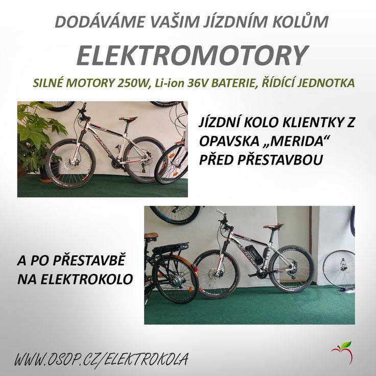 I Vaše kolo může mít elektrický pohon - přestavby jízdních kol na elektrokola.