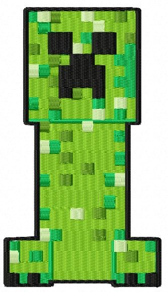 Minecraft Creeper Embroidery Design Jef Amp Pes By
