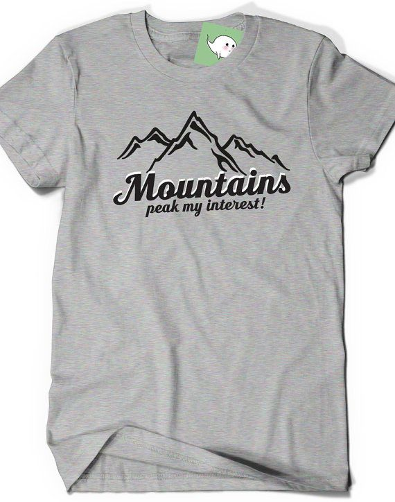 Funny mountains t shirt t shirt tees humor womens mens by boootees