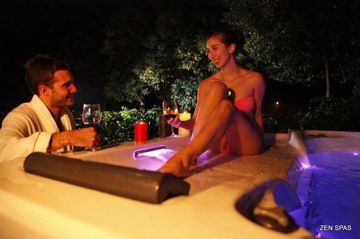 A super Dream night in a #hot_tub .