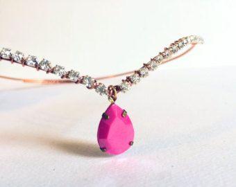 Tiara de diamantes de imitación de oro y rosa por StarDustSpark