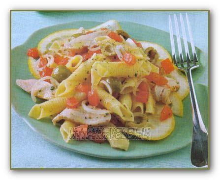 Салат из макарон бантиков