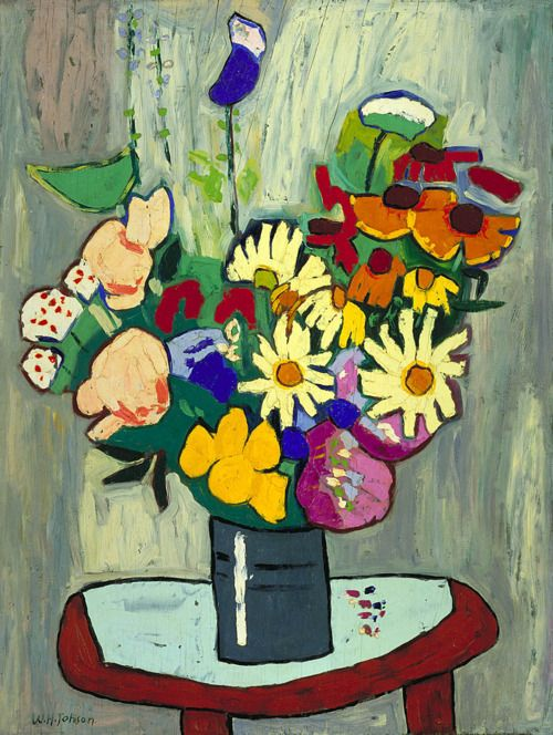 William H. Johnson:  Flowers (1939-1940) via the Smithsonian American Art Museum