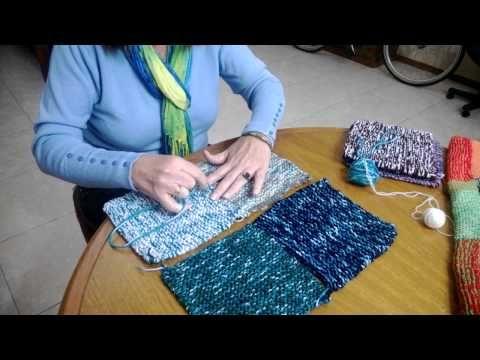 Armando poncho tejido a telar de 4 paños - YouTube
