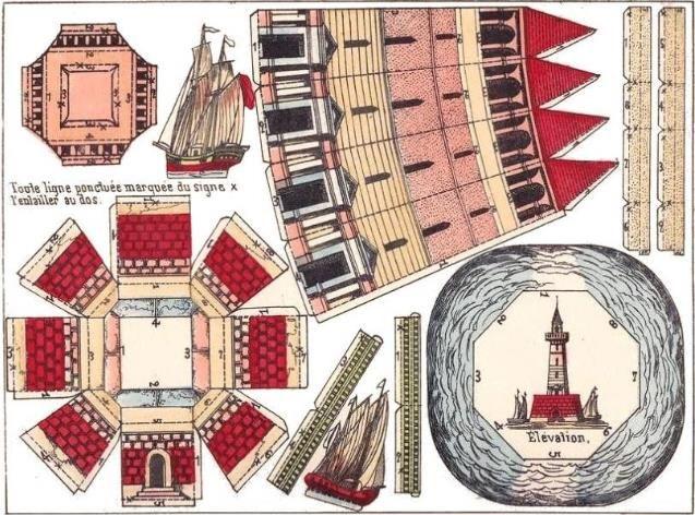 120 best paper model images on pinterest paper models for 3d paper lighthouse template
