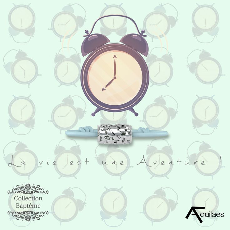Pas trop difficile le réveil ce matin?  #Aquilaes #bijoux #enfants #bebe #réveil #matin #famille #maman #papa #parents #difficile #amour #challenge #love #family #baby #children #gift #present #jewel #jewellery #bijoux #heure #retard #late #bracelet #clock #school #work #birth #rush