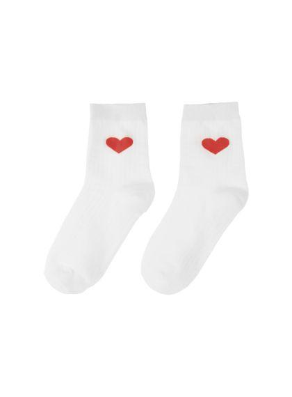 Heart Print Socks | MIX X MIX | Shop Korean fashion casual style clothing, bag…