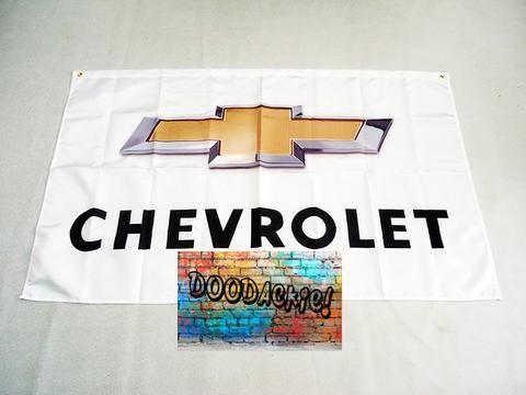 Chevrolet Logo Banner Flag - White Background