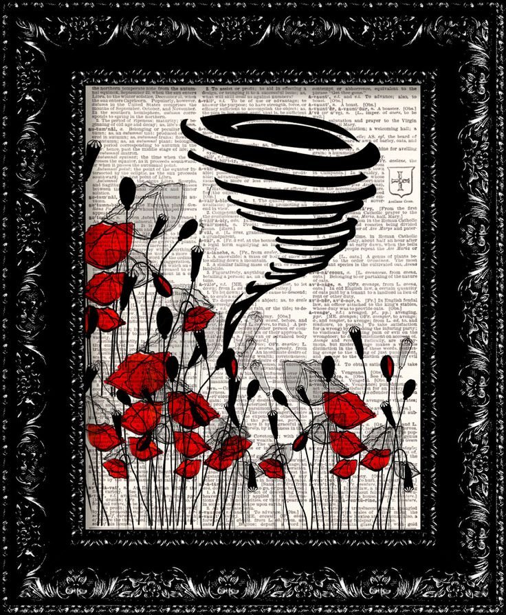 Wizard Of Oz The Tornado Poppy Field - Frank Baum - Dictionary Print Vintage Book Page Art Upcycled Vintage Book Artupcycled book print by TheRekindledPage on Etsy https://www.etsy.com/listing/161966687/wizard-of-oz-the-tornado-poppy-field