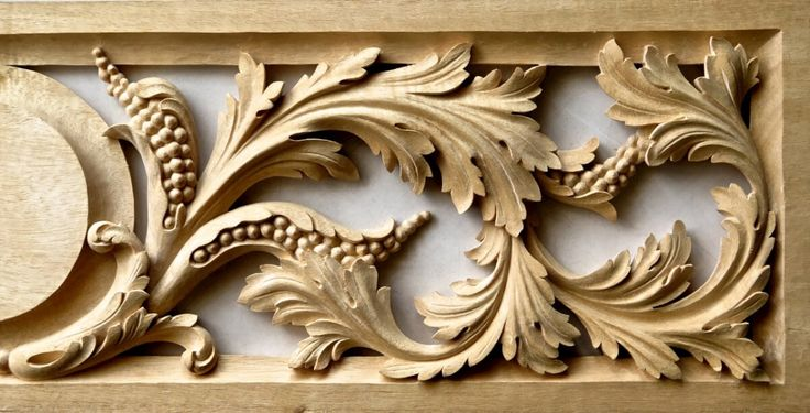 Renaissance-style panel woodcarving
