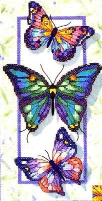 Dimensions Stamped #crossstitch  BUTTERFLY TRIO #DIY #needlework #crafts #decor…