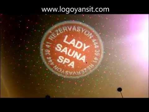 Tavana Logo ve Lazer Yansıt Dönen Logo Uygulama Videosu - YouTube