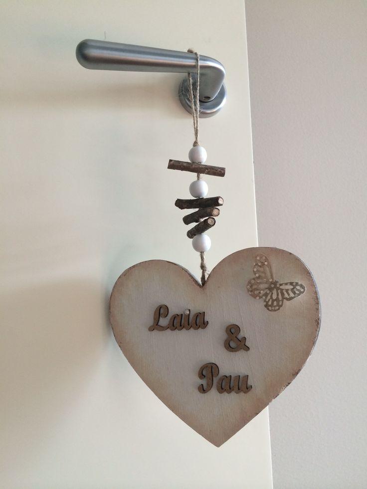 Corazón decorado a mano