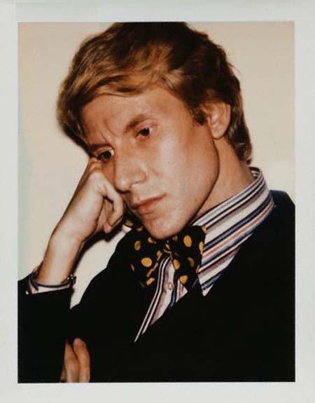 Yves Saint Laurent, 1972. Polaroid by Andy Warhol.