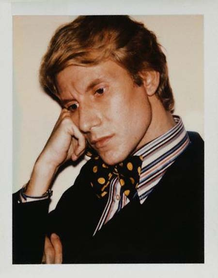 Yves Saint Laurent, 1972. Polaroid by Andy Warhol.