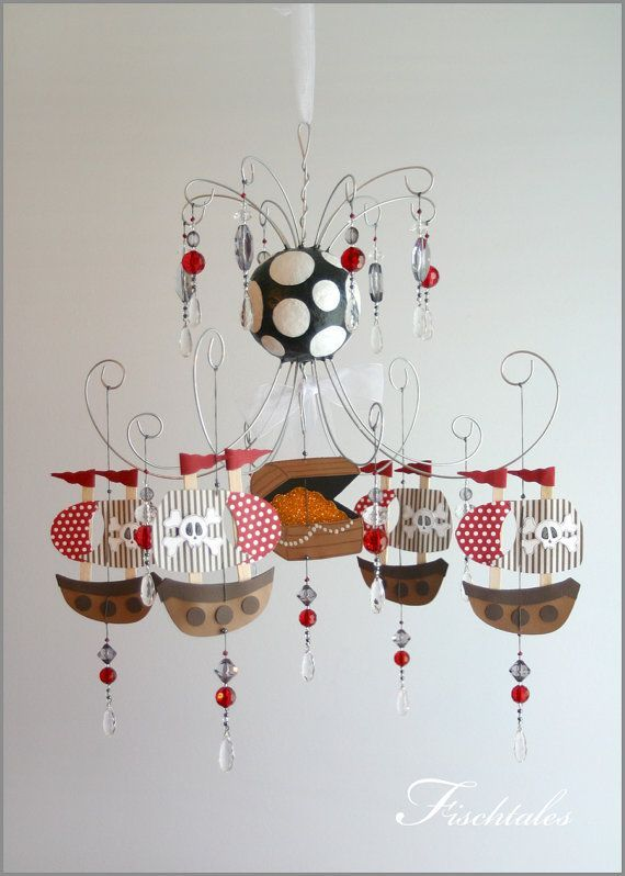 pirate ship nursery | Pirate Ship Chandelier Mobile baby Mobile by fischtaledesigns, $155.00