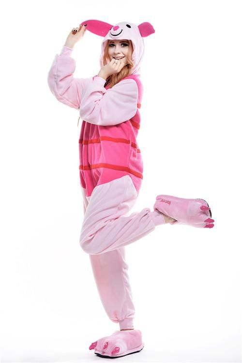 bd6e8797abb6 Cute Female Peppa Pig Cosplay Costume Pink Adult Pyjamas