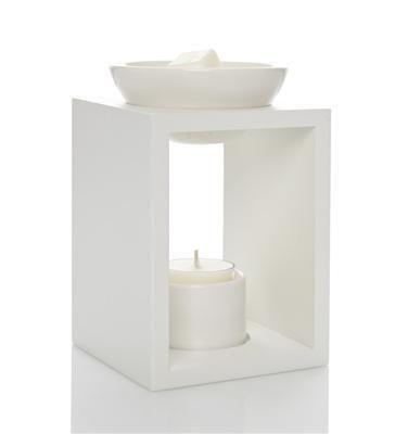 blackMILK Candles | White Wooden Oil Burner | Australian