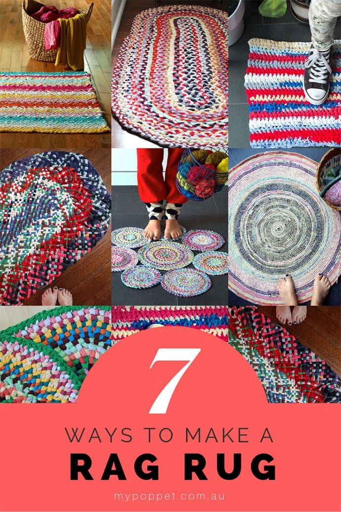 7 Ways To Make A Rag Rug From Old Clothes My Poppet Makes Braided Rug Diy Rag Rug Tutorial Braided Rag Rugs